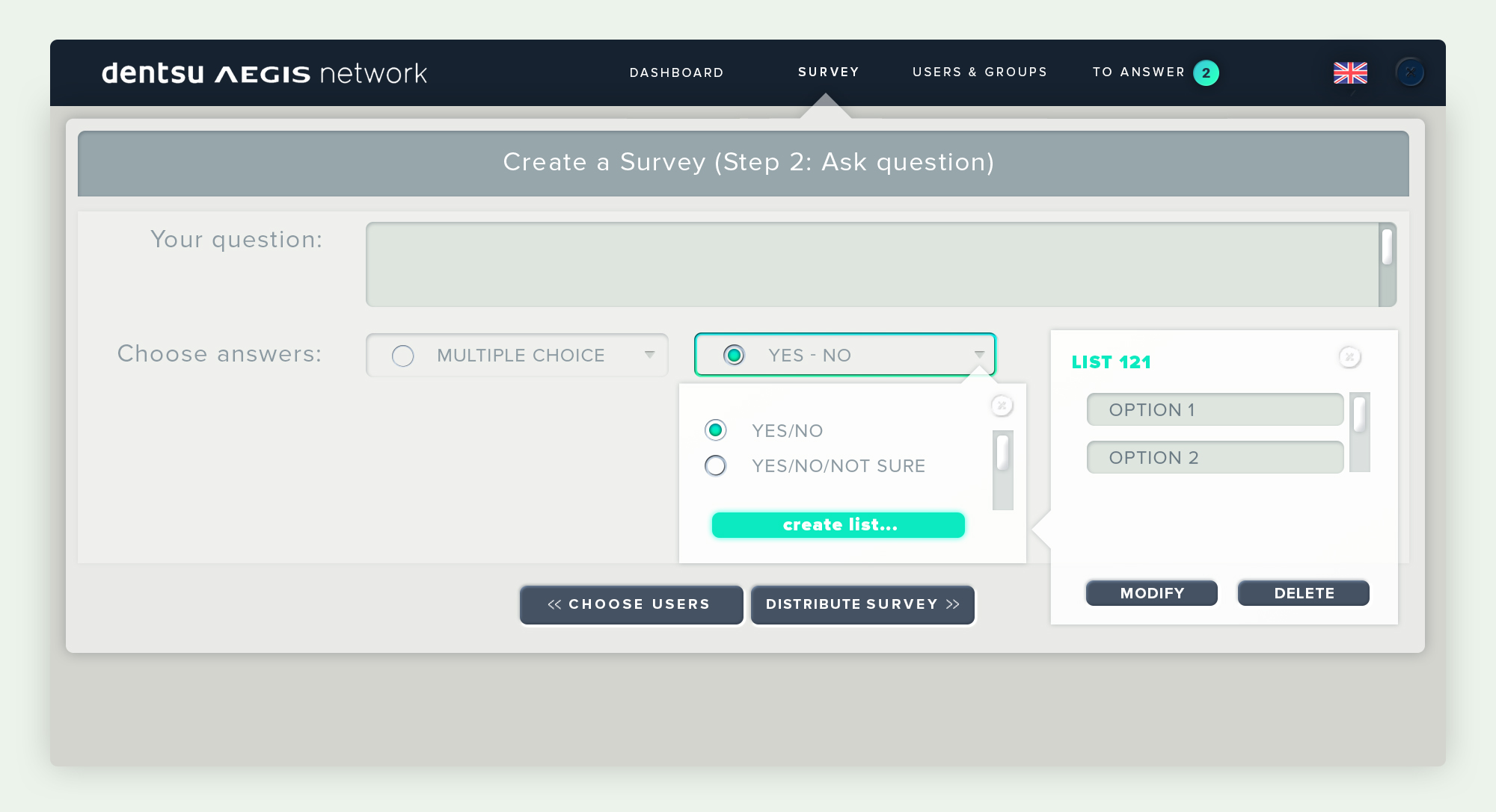 Create a Survey Step2_modify